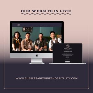 Website Bubbles & Wines