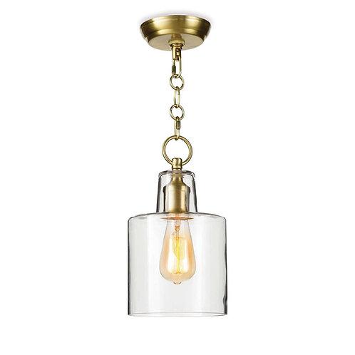 Dutch Glass Pendant (Natural Brass)