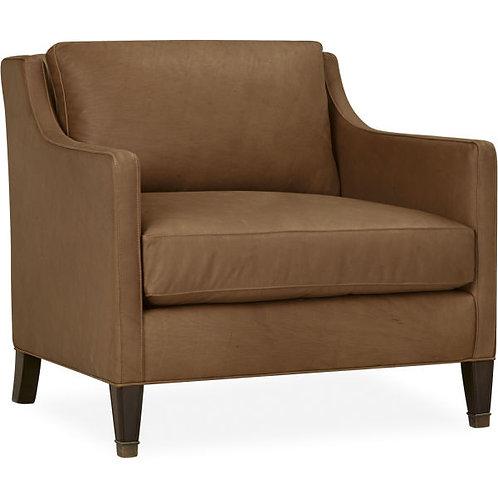 Ian Leather Chair in Elliott Saddle