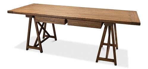 Sawhorse Desk  Old Pine