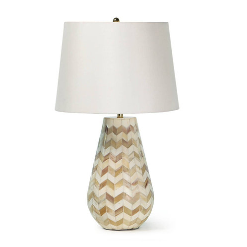 Cassia Chevron Table Lamp (Natural)