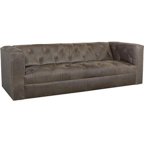 Robert Leather Sofa in Lagoon Smoke