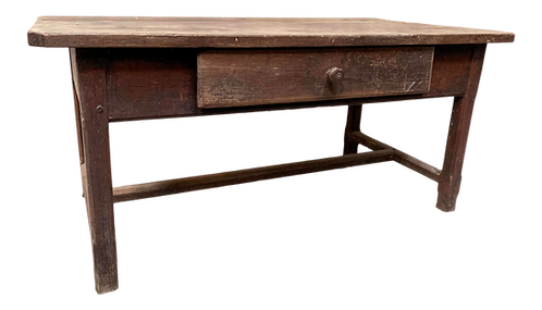 Dark Ashwood Work Table With H Stretcher