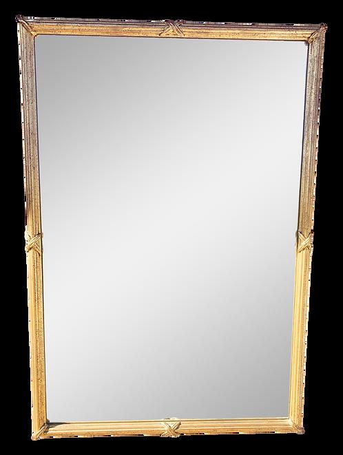 Large Gold Leaf Framed Mirror