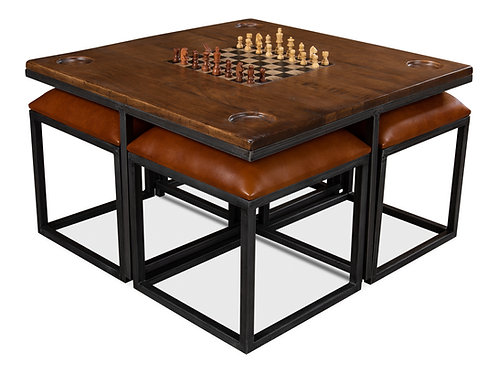 Low Game Table W/4 Stools