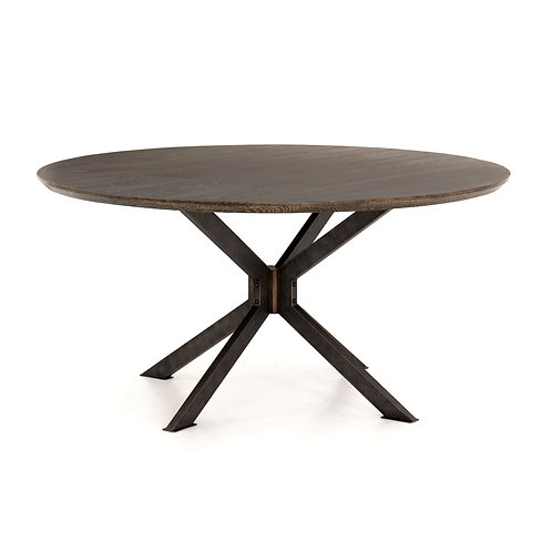 "Simon Round Dining Table-60""-English Br"