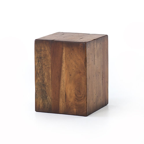 Dmitri End Table-Reclaimed Fruitwood