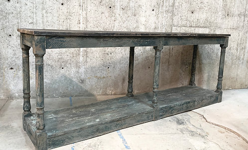 Long Console Table with Vintage Balusters Railings