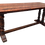 Thumbnail: Oak Long Trestle Farm Table With Turned Twin Legs