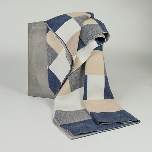 Bauhaus Jacquard Knit Cashmere Throw