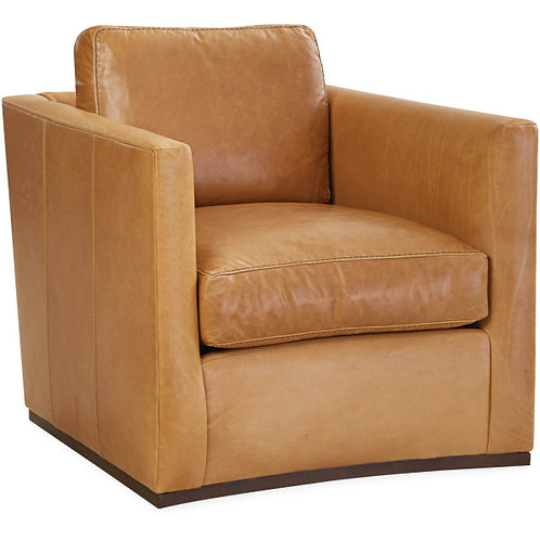 Leonard Leather Chair in Tampa Fawn