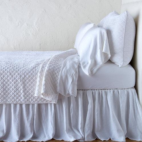 Silk Velvet Quilted Coverlet