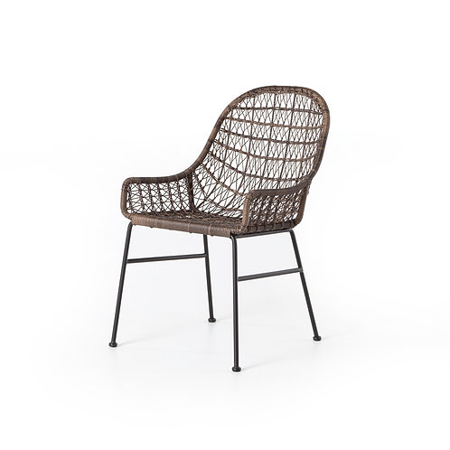 Bruno Outdoor Dining Chair Low Arm-Gre