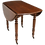 Thumbnail: French Louis Philippe Mahogany Drop Leaf Table With Turned Legs on Brass Castors