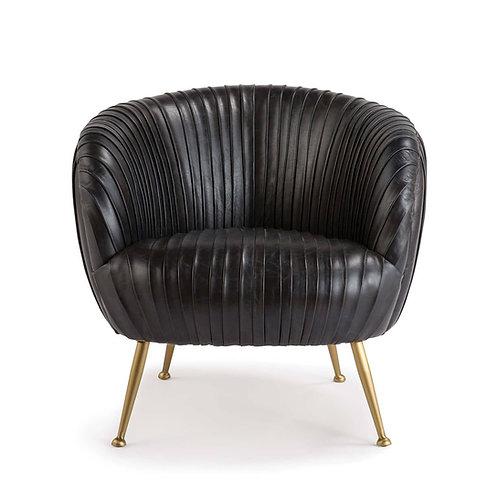 Beretta Leather Chair (Modern Black)