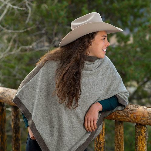 Reversible Jersey Knit Yak Down Poncho
