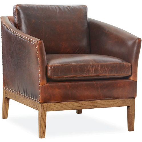 Albert Leather Chair in Aristocrat Chocolate