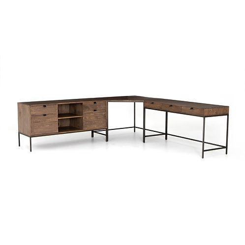 Tomas Desk System With Filing Credenza-Au