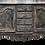 Thumbnail: Long Louis XV Marble Top Distress Painted Dark Charcoal Sideboard