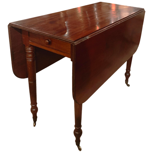 American Federal Mahogany Drop-Leaf Console and Dining Table