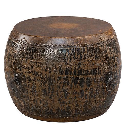 Black Drum Side Table