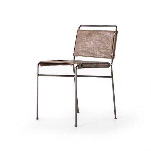 William Dining Chair-Distressed Brown