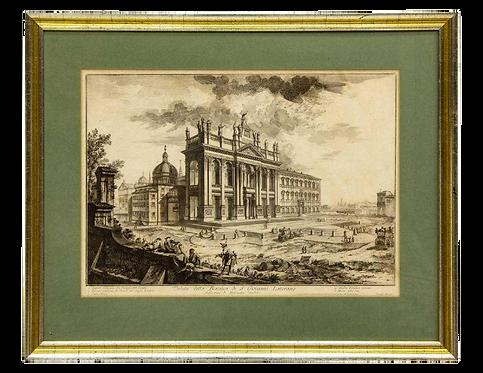 Views of Rome, Basilica St John Lateran Framed Etching by Piranesi