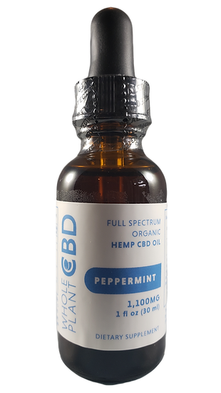 Wholeplant CBD Tincture - 1100mg - Peppermint Flavor