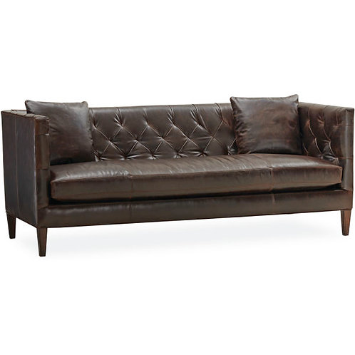 Trevor Leather Sofa in Citation Chocolate
