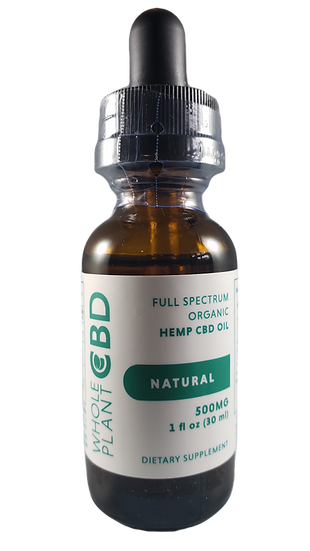 Wholeplant CBD Tincture - 500mg - Natural Flavor
