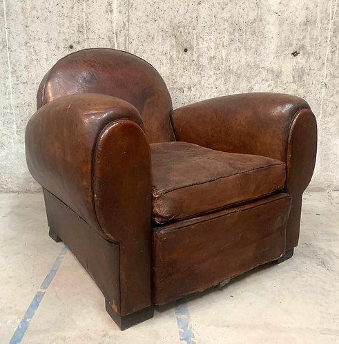 Vintage Leather Club Armchair