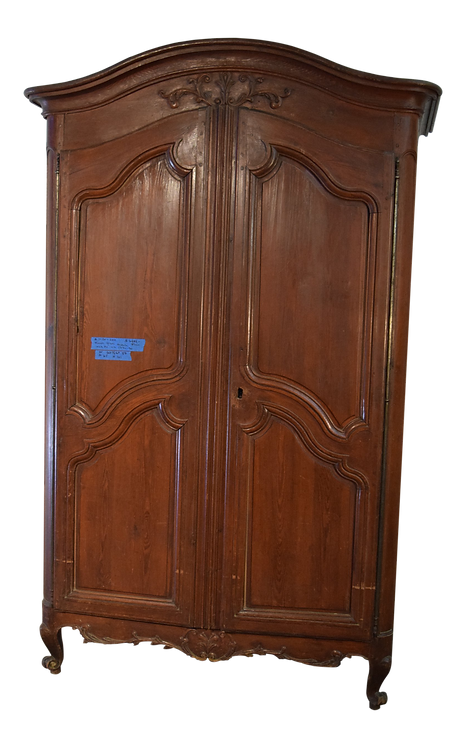 Louis XV French Pine Armoire, 18th C