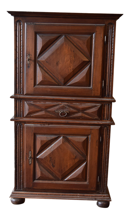French Carved Walnut Armoire, 19th Century