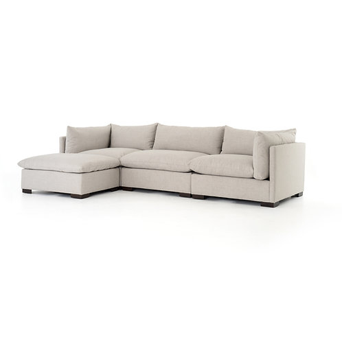 Wyatt 3-Pc Sectional W/ Ottoman-Bm