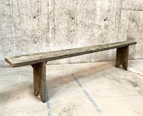 Weathered Grey Pine Vineyard Bench
