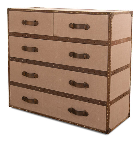 Tan Canvas Chest Drawers