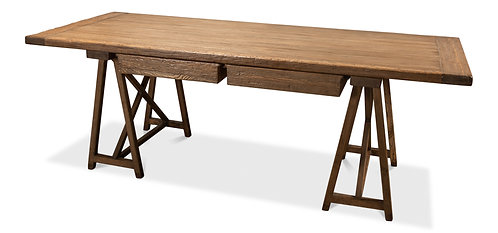 Sawhorse Desk  Old Pine