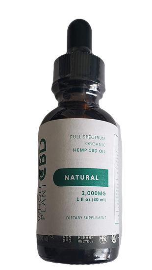 Wholeplant CBD Tincture - 1100mg - Natural Flavor