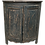 Thumbnail: Gray Green Painted and Distressed Corner Cabinet