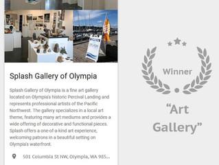 "Splash Gallery Voted #1 Art Gallery in King5's ""Best of Western Washington"""
