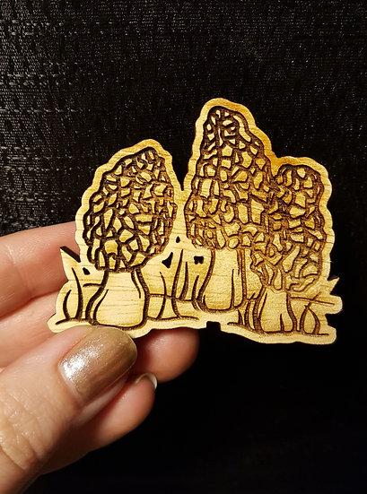 Morel Wooden Magnet