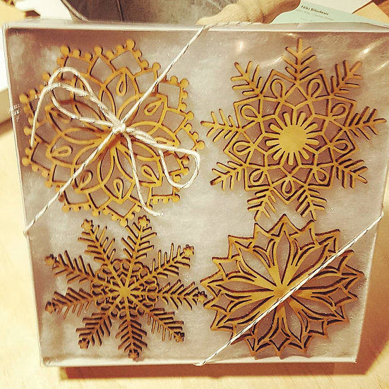 Snowflake Ornaments (set of 4)