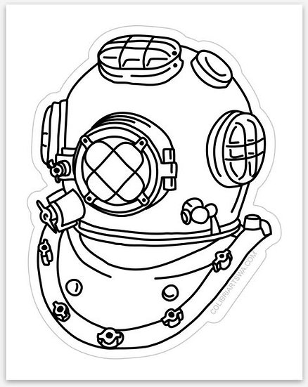 Vinyl Dive Helmet Sticker