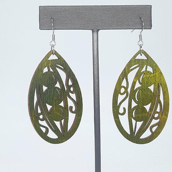 Pea Pod Green Earrings