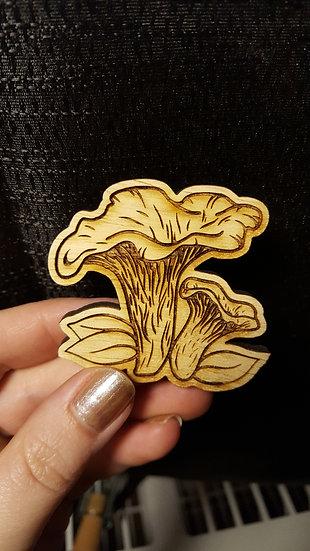 Chanterelle Wooden Magnet