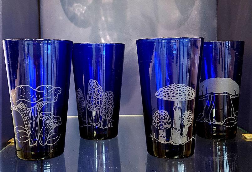Set of 4 Mushroom Pints