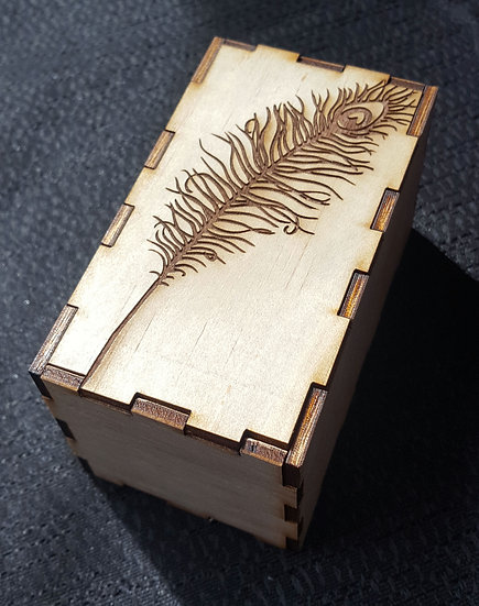 Peacock Feather Puzzle Box