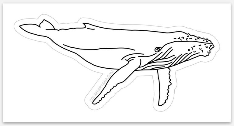 Vinyl Humpback Whale Sticker