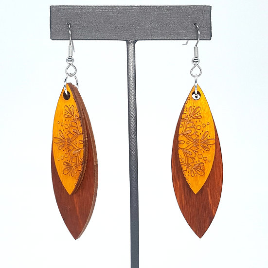 Yellow/Brown Mandala Earrings