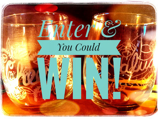 You can enter to win two beautiful wine glasses!